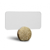 Pave Sphere Place Card Holders - Gold + Yellow Crystals / Set 6