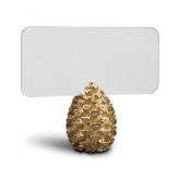 Pinecone Place Card Holders - Gold / Set 6