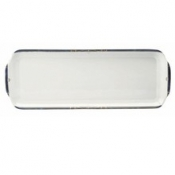 Scala Blue Gold Filet  Rectangular Cake Platter