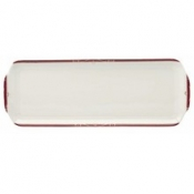 Scala Red Gold Filet  Rectangular Cake Platter