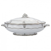 Elizabeth Platinum Covered Vegatable Dish