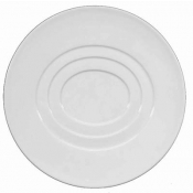 "Hommage by Thomas Keller Round Plate 8.5"" Concentric Oval Circles"