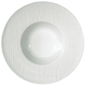 Makassar Gloss White French Rim Soup Plate