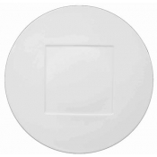 "Hommage by Thomas Keller Round Plate 10.5"" Square Well"