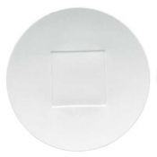 "Hommage by Thomas Keller Round Flat Platter 12.5"" Square Well"