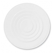 "Hommage by Thomas Keller Round Flat Platter 12.5"" Concentric Round Circles"