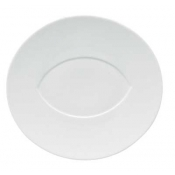 "Hommage by Thomas Keller Oval Platter 12.5"" Almond Well"