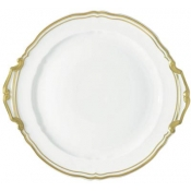 Polka Gold Cake Plate With Hands