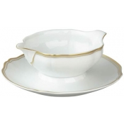 Polka Gold Gravyboat With Saucer