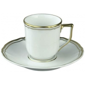 Polka Gold Coffee Cup