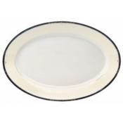 Scala Blue Gold Filet  Oval Platter