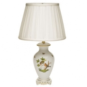 Herend Rothschild Bird Basketweave Lamp - 22""