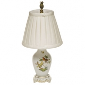 Herend Rothschild Bird Basketweave Lamp - 14""