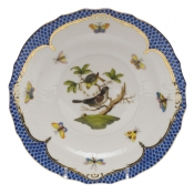 "Rothschild Bird Blue Border SALAD PLATE - MOTIF 01 7.5""D"