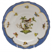 "Rothschild Bird Blue Border SALAD PLATE - MOTIF 03 7.5""D"