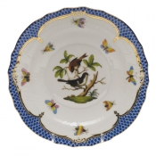"Rothschild Bird Blue Border SALAD PLATE - MOTIF 04 7.5""D"