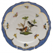 "Rothschild Bird Blue Border SALAD PLATE - MOTIF 05 7.5""D"