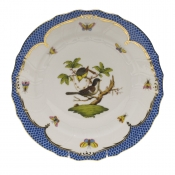 "Rothschild Bird Blue Border DINNER PLATE - MOTIF 01 10.5""D"