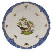 "Rothschild Bird Blue Border DINNER PLATE - MOTIF 02 10.5""D"