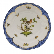 "Rothschild Bird Blue Border DINNER PLATE - MOTIF 03 10.5""D"