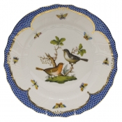 "Rothschild Bird Blue Border DINNER PLATE - MOTIF 05 10.5""D"