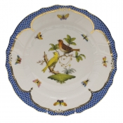"Rothschild Bird Blue Border DINNER PLATE - MOTIF 06 10.5""D"