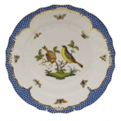 "Rothschild Bird Blue Border DINNER PLATE - MOTIF 07 10.5""D"