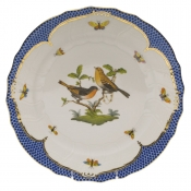 "Rothschild Bird Blue Border DINNER PLATE - MOTIF 09 10.5""D"