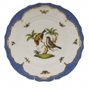 "Rothschild Bird Blue Border DINNER PLATE - MOTIF 12 10.5""D"