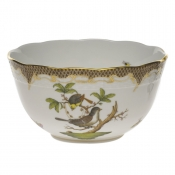 "Rothschild Bird Brown Border ROUND BOWL  (3.5 PT) 7.5""D"