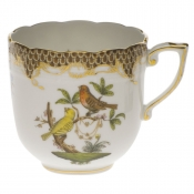 Rothschild Bird Brown Border MOCHA CUP  (4 OZ)