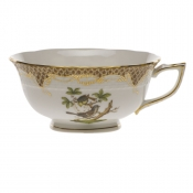 Rothschild Bird Brown Border TEA CUP - MOTIF 01 (8 OZ)