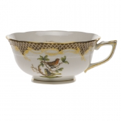 Rothschild Bird Brown Border TEA CUP - MOTIF 03 (8 OZ)
