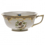 Rothschild Bird Brown Border TEA CUP - MOTIF 04 (8 OZ)