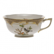 Rothschild Bird Brown Border TEA CUP - MOTIF 05 (8 OZ)