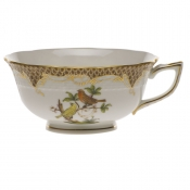 Rothschild Bird Brown Border TEA CUP - MOTIF 06 (8 OZ)