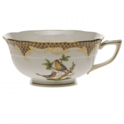 Rothschild Bird Brown Border TEA CUP - MOTIF 08 (8 OZ)