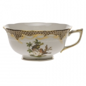 Rothschild Bird Brown Border TEA CUP - MOTIF 10 (8 OZ)