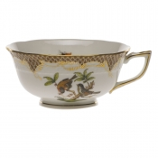 Rothschild Bird Brown Border TEA CUP - MOTIF 12 (8 OZ)