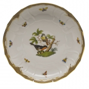 "Rothschild Bird Brown Border OPEN VEG BOWL 10.5""D"
