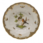 "Rothschild Bird Brown Border RIM SOUP - MOTIF 10 9.5""D"