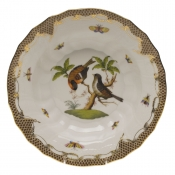 "Rothschild Bird Brown Border RIM SOUP - MOTIF 12 9.5""D"