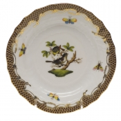 Rothschild Bird Brown Border BREAD & BUTTER PLATE - MO 01 6
