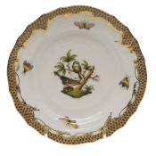 Rothschild Bird Brown Border BREAD & BUTTER PLATE - MO 02 6