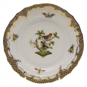 Rothschild Bird Brown Border BREAD & BUTTER PLATE - MO 03 6