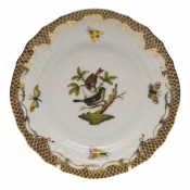 Rothschild Bird Brown Border BREAD & BUTTER PLATE - MO 04 6