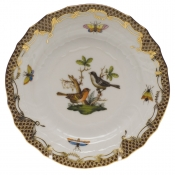 Rothschild Bird Brown Border BREAD & BUTTER PLATE - MO 05 6