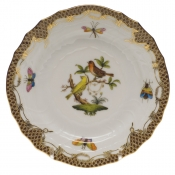 Rothschild Bird Brown Border BREAD & BUTTER PLATE - MO 06 6