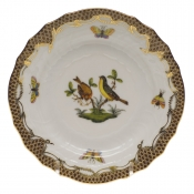 Rothschild Bird Brown Border BREAD & BUTTER PLATE - MO 07 6
