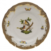 Rothschild Bird Brown Border BREAD & BUTTER PLATE - MO 08 6
